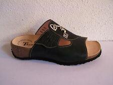 Think!  Pantolette Modell Mizzi schwarz  Klettverschluß incl. Baumwollbeutel