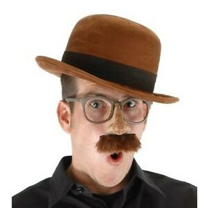 Adult Bowler Brown Hat- Accessory Costume Hat