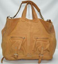 POUR LA VICTOIRE VIVIEN Tan Leather Large Tote Shoulder Carryall Bag Purse $375