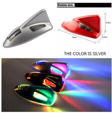 Auto Car 6LED Signal Rear Light Solar Shark Fin Anti Collision Light Lamp Decor