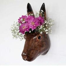 Hare Flower Wall Vase By Quail Ceramics, Hare Head Wall Mounted Vase