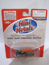 Classic Metal Works Mini Metals 53 Ford Courier Sedan Delivery Rexall Drugs 1:87