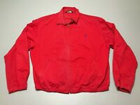 Vintage 90s Polo Ralph Lauren Made In USA Full Zip Red Coat Jacket Adult Size XL