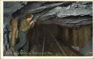 Coal Miners Mining Publ in Scranton PA c1910 Postcard BARRING BAD ROOF