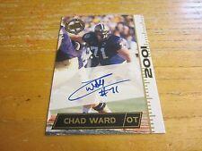Chad Ward 2001 Press Pass Autographs Card NFL Football San Francisco 49ers