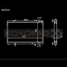Koyo HH020539 HH Series Racing Radiator for 89-94 240SX S13 KA24DE