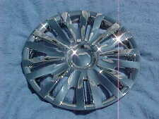 "2009 CHRYSLER PT CRUISER 15"" CHROME HUBCAPS, 4 NEW HUB CAPS with STEEL CLIPS"