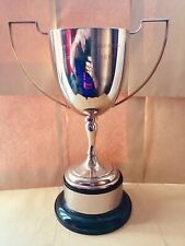 """Huge Large Antique Silver Trophy Shabby Chic Cup - 12"""" / 305mm #105 Free UK P&P"""