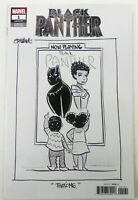 Marvel BLACK PANTHER (2020) #1 THAT'S ME Sketch B&W VARIANT FN+ (6.5) Ships FREE