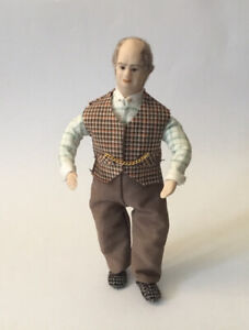 Dolls House Man Wearing Waistcoat - 15 cm