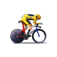 Geraint Thomas - Individual Time Trial, Tour de France 2018 Greeting Card