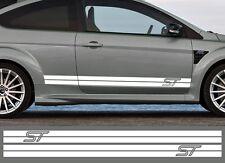 2 X BANDES POUR FORD FOCUS ST RALLYE 200cmX11cm AUTOCOLLANT STICKER AUTO BD564B