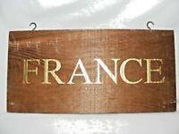 VINTAGE WOODEN FRANCE COUNTRY SIGN / DISPLAY WINE SHOP / BAR / RESTAURANT