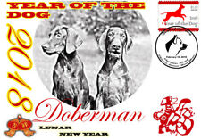 DOBERMAN 2018 YEAR OF THE DOG STAMP SOUVENIR COVER
