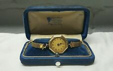 Vintage 30s-40s Ladies GF Rubaiyat Watch 15J W/Box Runs Great Very Nice