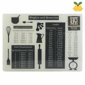 """""""Weights & Measures"""" Glass Worktop Saver Chopping Cutting Home Pasty Board NEW.."""