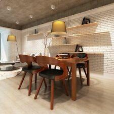 vidaXL 4x Sillas de Comedor Cuero Marrón Asientos Bancos Muebles Cocina Salón