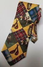 Men's Necktie RUFF HEWN True American Wear 100% SILK Classic Golf Theme