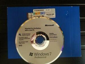 Microsoft Windows 7 Professional 64-bit original & genuine DVD & product key
