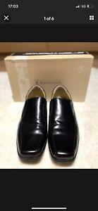 Men's black leather shoes - steptronic - Size UK10