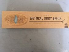 Nature Dry Body Brush Dry Skin Brushing AsaVea Reduces Cellulite Stress NEW F/S