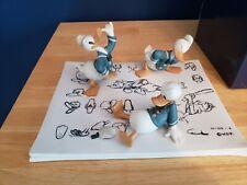 Rare Disney Gallery Donald Duck Model Sheet Figural Scene Limited Edition