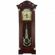 Bedford 33 Antique Cherry Oak Finish Chiming Wall Clock With Roman Numerals
