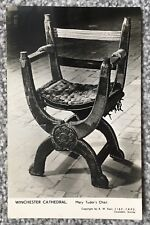 WINCHESTER CATHEDRAL, QUEEN MARY TUDOR'S CHAIR,  POSTCARD - 1952