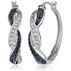 925 Silver Women Earring Women Jewelry Blue Sapphire Wedding Jewelry Gift A Pair