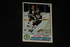LOU NANNE 1977-78 TOPPS SIGNED AUTOGRAPHED CARD #36 NORTH STARS