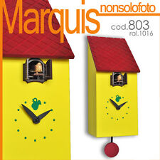 """orologio a cucù art.803 """"portofino""""giallo zolfo 1016 Pirondini Italia Marquis"""