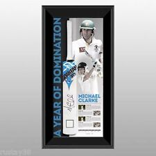 MICHAEL CLARKE SIGNED & FRAMED A YEAR OF DOMINATION LIMITED EDITION CRICKET BAT