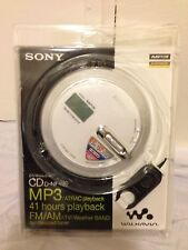 NEW SONY WALKMAN PORTABLE CD PLAYER DNF430 MP3/ATRAC AM/FM/Weather Digital NEW