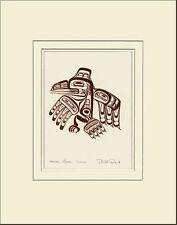 Haida Gwaii artist BILL REID Embossed COPPER RAVEN XUUYA matted art print