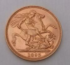 More details for 1893 gold double sovereign coin queen victoria veiled head 22ct 15.96g