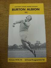 19/03/1975 Burton Albion v Dartford  (team changes). Unless previously listed in