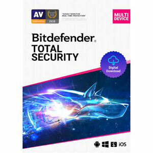 Bitdefender Total Security 2021 Antivirus 1 Device 1 Year
