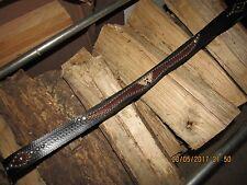 Western/Rockabilly/Biker/Rocker/Leather Belt Handmade, Hawk Leather Inlay 42