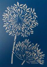 Scrapbooking - STENCILS TEMPLATES MASKS Sheet - Flowers - Agapanthus