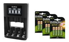 Uniross Smart Fast LCD Charger 4 X AA 2850 mAh Rechargeable Batteries-micro USB
