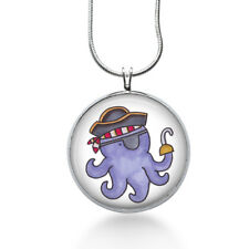 Octopus Pirate Necklace - Beach Pendant - Jewelry Gift for Teens