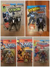 Marvel MCU Toybiz 5 figure set Venom Spider-Man Wolverine Weapon X 90s vintage