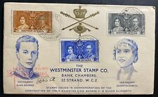 1937 British Guiana King George VI Coronation FDC First Day Cover KGVI 1