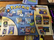Nintendo Pokémon / N64 / Gameboy Color Poster / promotional game insert