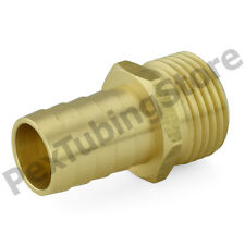 """3/4"""" Male Garden Hose x 3/4"""" Hose Barb Brass Adapter Connector Fitting"""