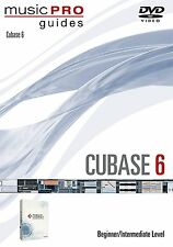 "MUSIC PRO GUIDES ""CUBASE 6"" BEGINNER/INTERMEDIATE LEVEL DVD-SEALED NEW ON SALE!!"