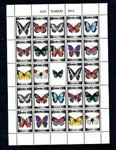 [ARV657] Aruba 2013 Butterflies Schmetterlingen Papillons Miniature Sheet MNH
