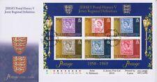 Unaddressed Jersey Cover FDC 2010 Postal History V Regional Definitives Sheet