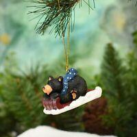 Fa La La Holiday Shopper Retro Glass Disc Christmas Ornament Decoration