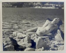 3 Photos - Femme - Rires - Plage - Pin Up - Sexy - Epreuves argentiques 1950 -